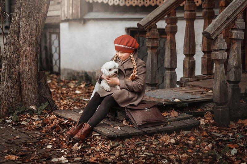 дети, собака, девочка Друзьяphoto preview