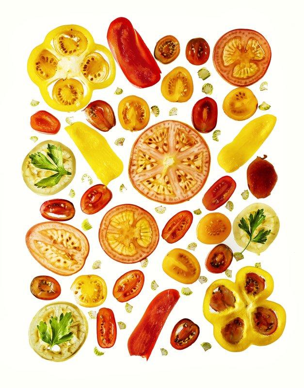 овощи, нарезка, натюрморт, микс Овощной миксphoto preview