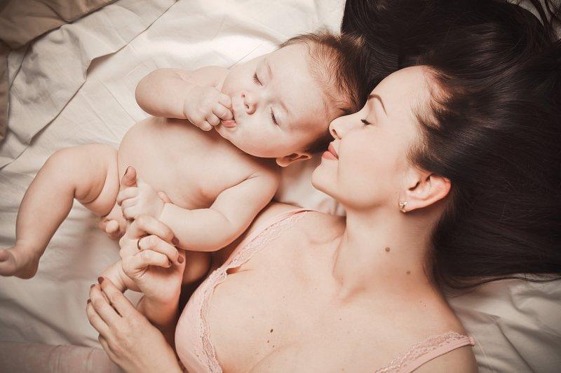 ребенок, малыш, женщина, семья, idyllphoto preview