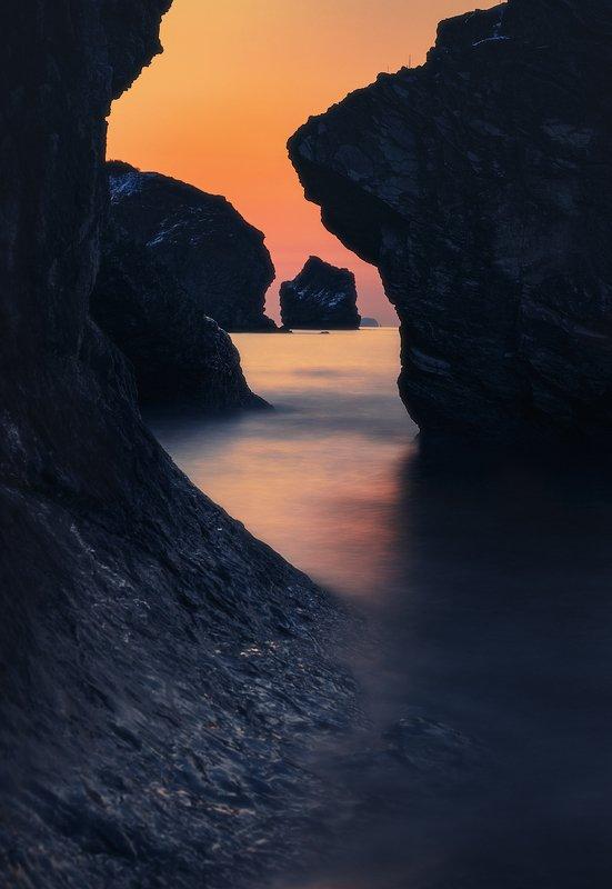 утро, март, море, скалы ***photo preview