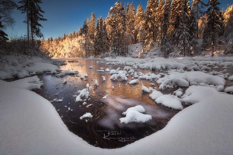 winter, morning,sunrise,norway,lake,snow,landscape, Winterphoto preview