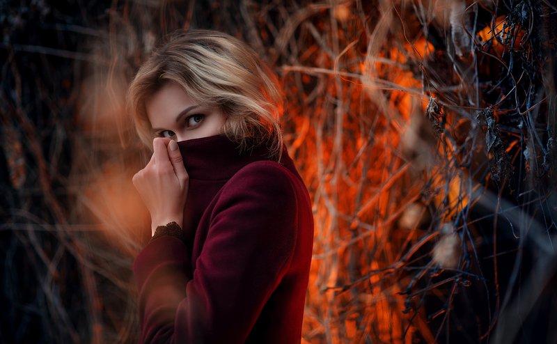 портрет, девушка, свет Ксенияphoto preview
