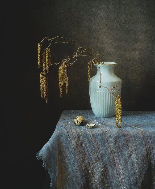 натюрморт,ольха,сережки,весна с ольховыми сережками...photo preview