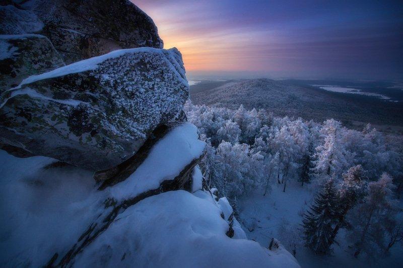 урал, горы, малиновая, белорецк, зима, уральскиегоры Морозный рассветphoto preview