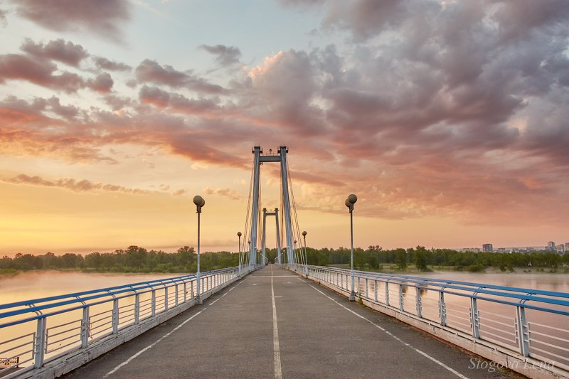 рассвет, мост Свободный путьphoto preview