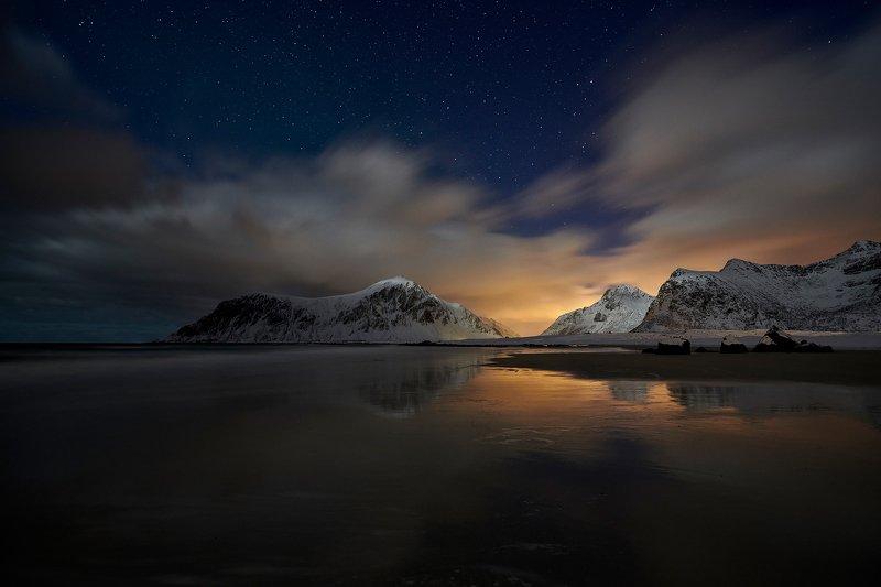 Night by Skagsanden beachphoto preview