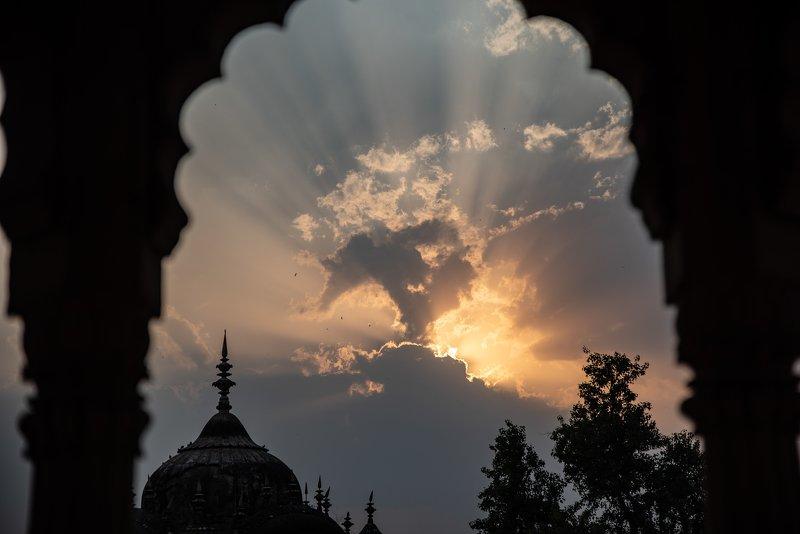 индия, закат photo preview
