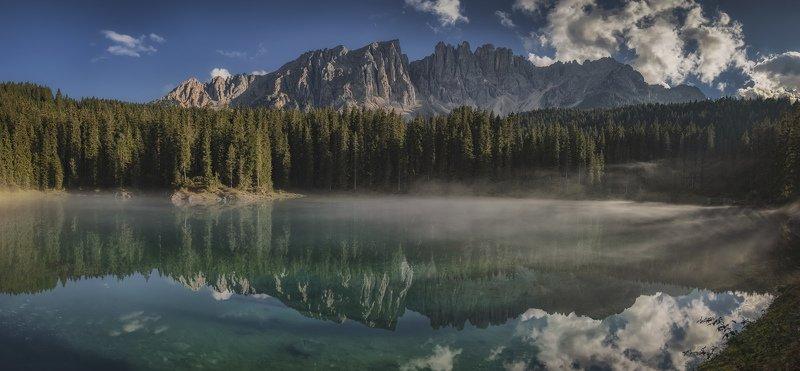 италия, озеро, горы вечерний туман (панорама)photo preview