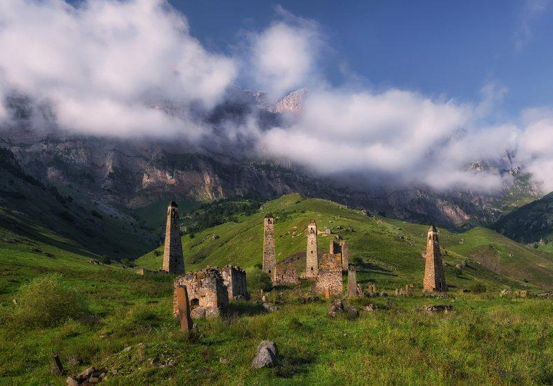 кавказ, ингушетия Башни Ингушетии. Лето, осень, весна.photo preview