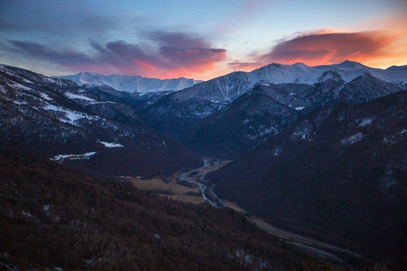 кчр, архзыз,горы ,кавказ,горный ландшафт,вечер,закат Архыз ...photo preview