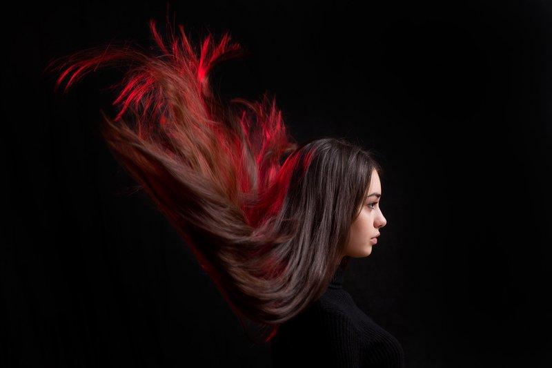 Портрет, девушка, волосы, красный, профиль,олег_грачёвoleg_grachev,portrait,red,girl.canon,canonlens, Дарьяphoto preview