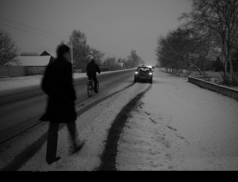 winter belarus road track Motionphoto preview