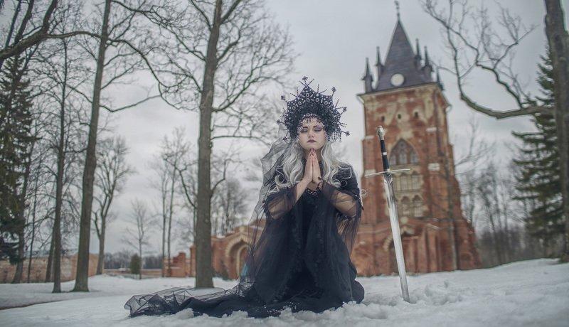 готика, пленер, портрет, жанр, rekhov Молитваphoto preview