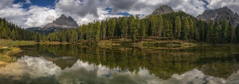 озеро, горы, отражение горное озероphoto preview