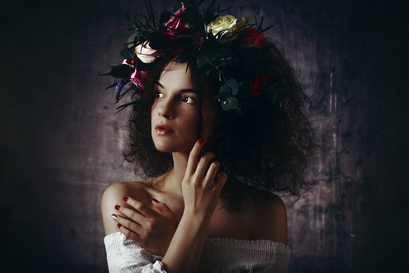 woman, beauty, art, studio, light, portrait There are always flowers for those who want to see themphoto preview