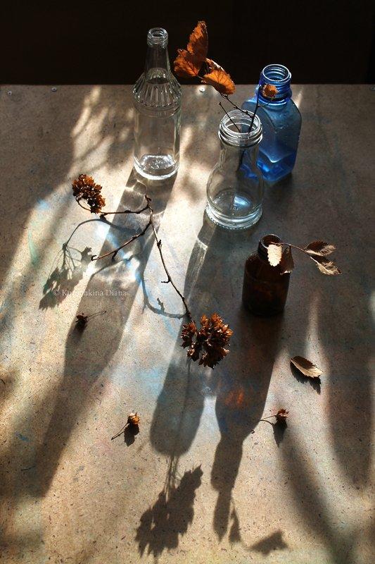 бутылочки, тени, солнце Бутылочки и тениphoto preview