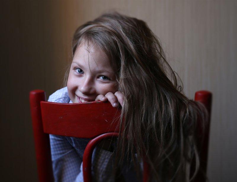 жанровый портет девочка улыбка #Вера Шамраева ***photo preview