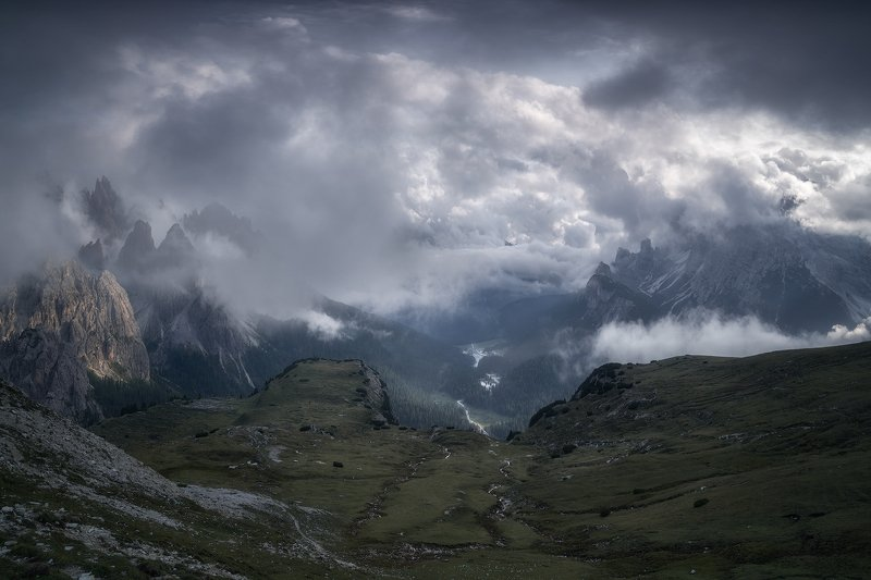 alps, beauty, blue, bourn, brook, chalk stone, cliffs, clouds, cumulus, dolomites, fog, foggy, forest, grass, green, hiking, hill, italy, klimbing, lake, landscape, ludwig riml natural lightphotography, mountain meadow, mountain top, mountaineers, mountai Before the Stormphoto preview