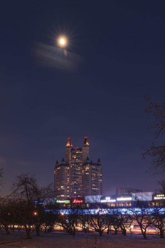 пейзаж, луна, март, вечер, архитуктура Вечерphoto preview