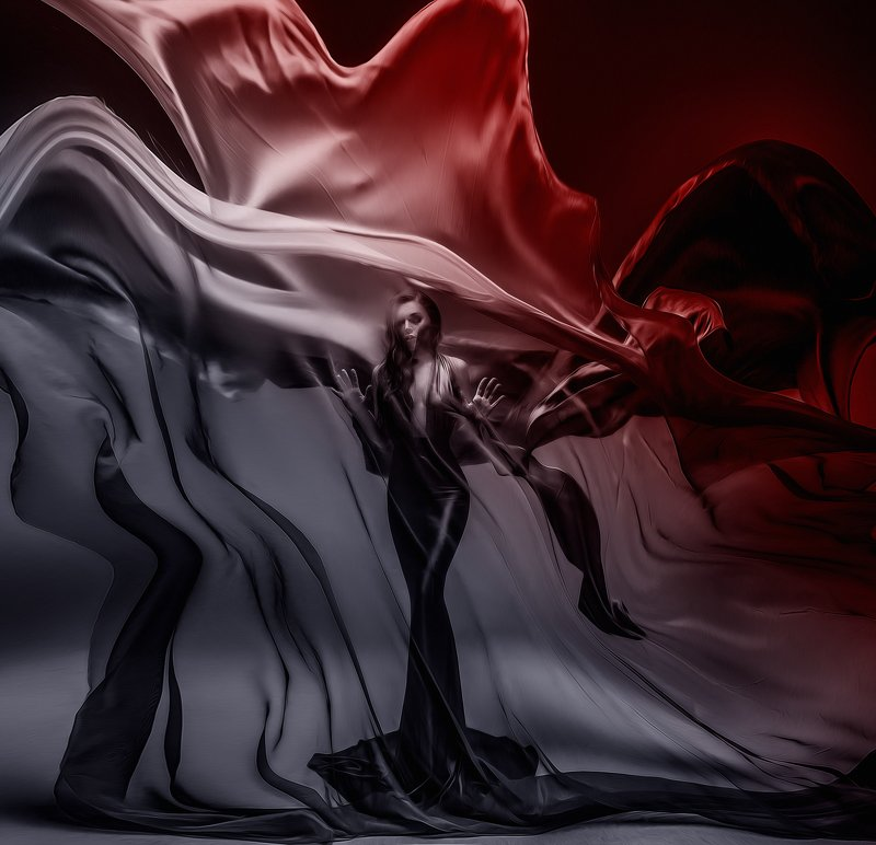 ткани красный чб силамысли тордуа вдохновение платье девушка Страстьphoto preview