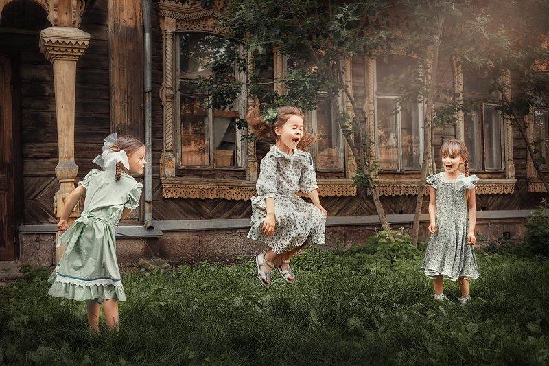 дети, девочка, деревня Лето в деревнеphoto preview