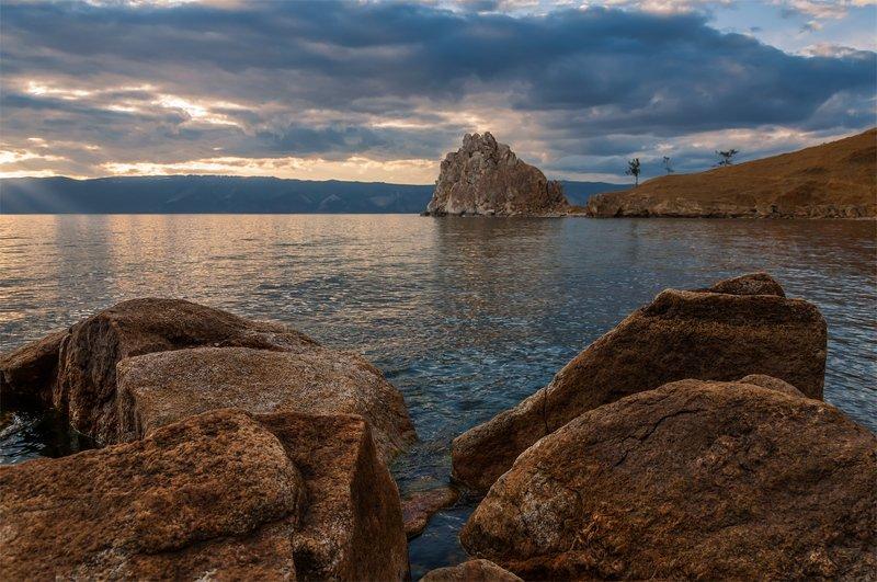 природа, пейзаж, сибирь, закат, лето, озеро, байкал ***photo preview