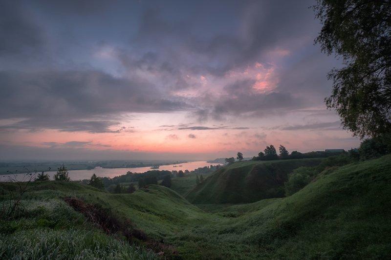 константиново, есенин, рассвет, ока, река, овраги, туман, утро, облака, настроение Рассвет над Окойphoto preview