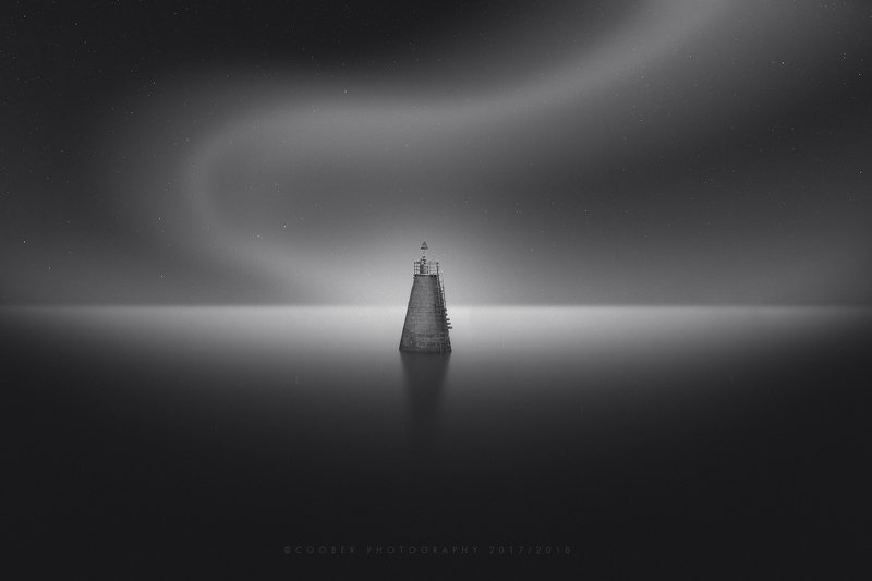 landscapes,black & white,travel,lighthouse Lonely lighthousephoto preview