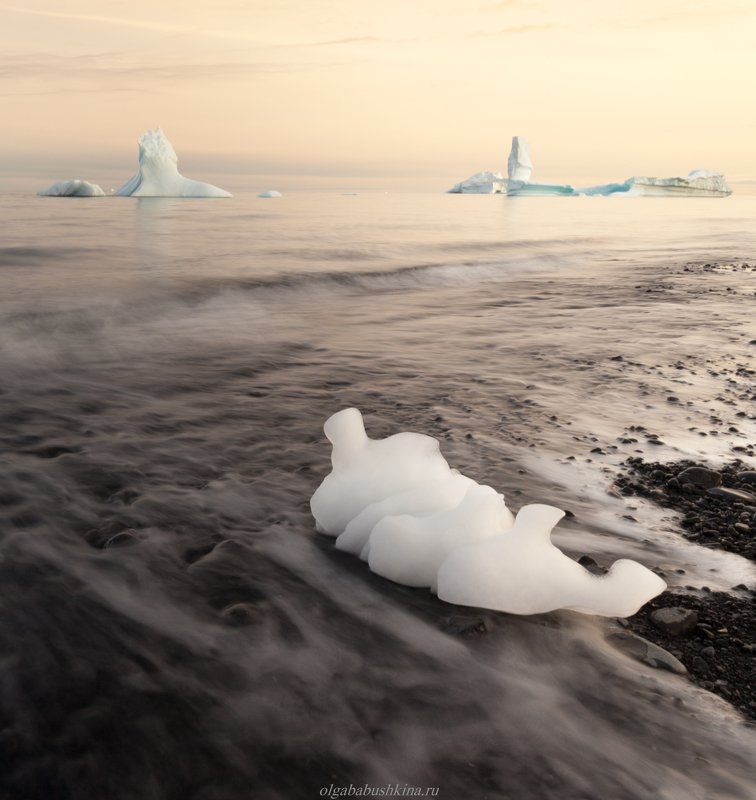 арктика, гренландия, arctic, greenland, sunset, закат, фотопутешествие, фототур, айсберг, iceberg Оставленная океаномphoto preview