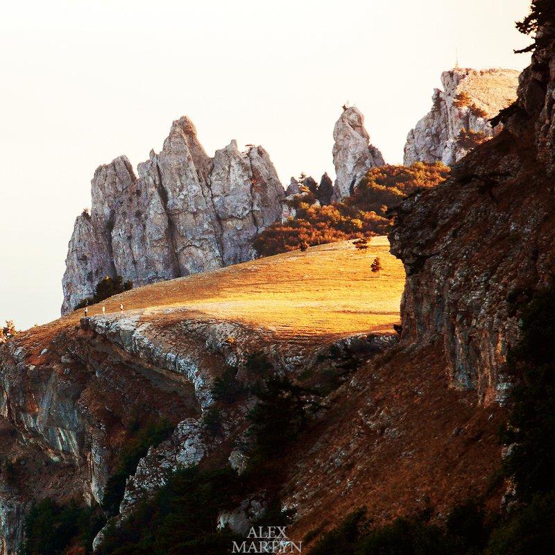 плато, ай-петри, крым, закат, льется, свет Солнечное платоphoto preview