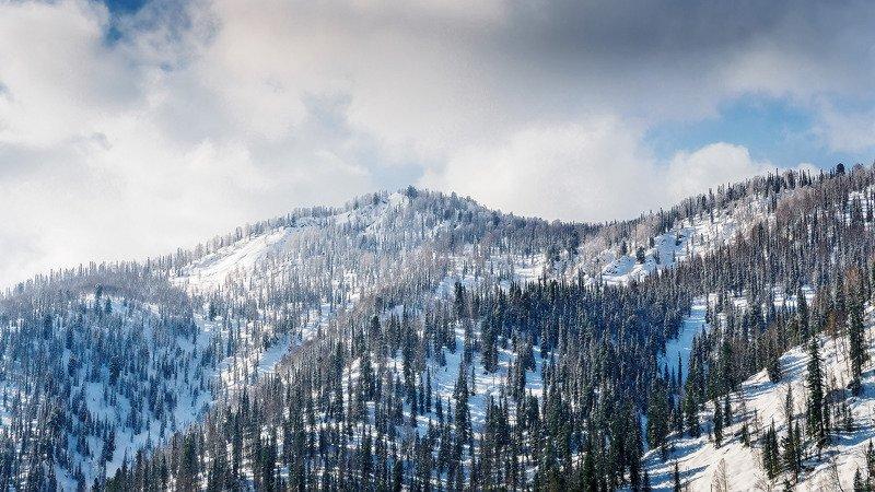 пейзаж, горы, весна, облака  По утру. photo preview