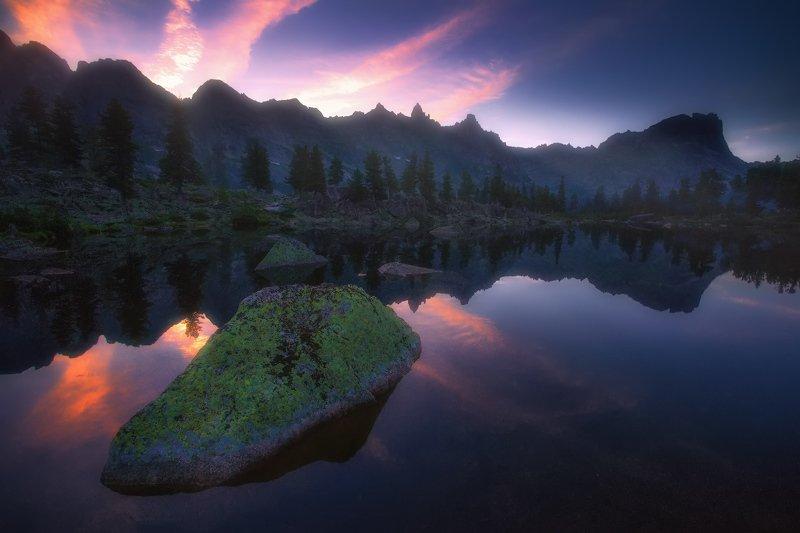ергаки, горы, саяны, западныйсаян, сибирь, озерохудожников Перед рассветомphoto preview