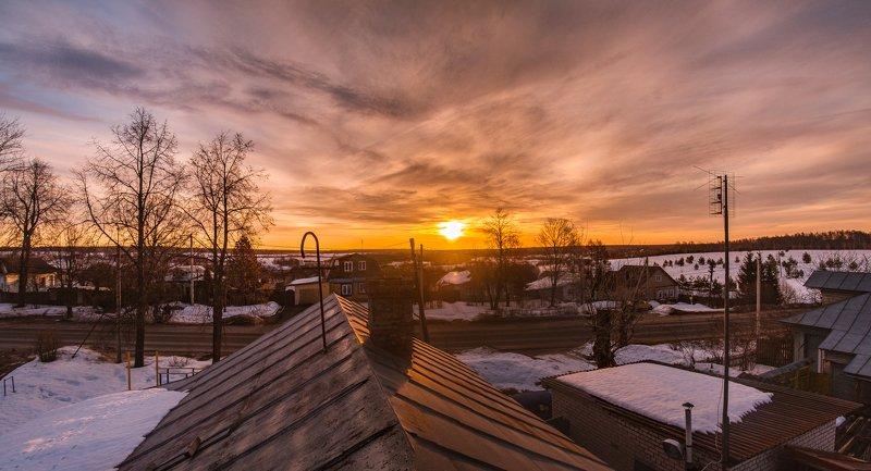 дом, крыша, ивановская область, рассвет На крыше дома своегоphoto preview