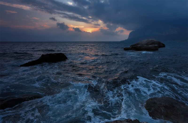крым, севастополь, ласпи, пейзаж, закат Вечер у моря...photo preview