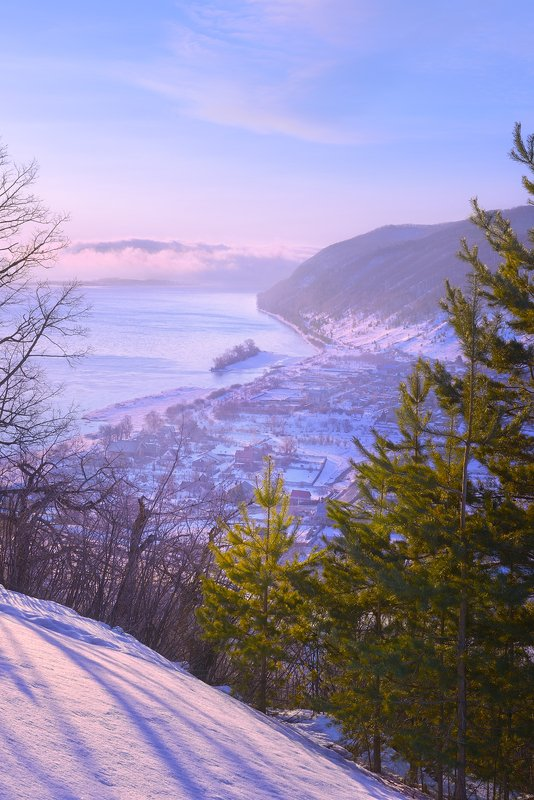 Прячутся в тумане Сокольи горы.photo preview