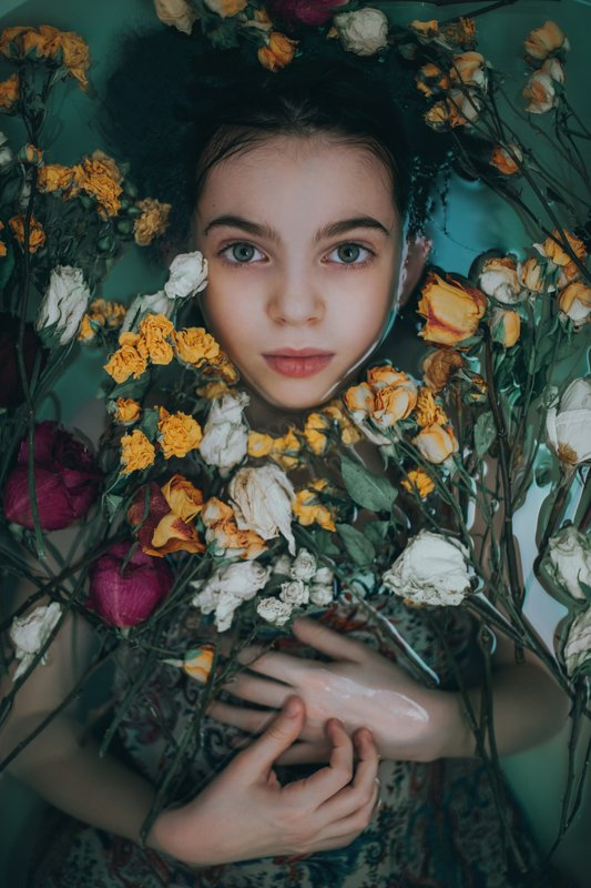 girl, beauty, flowers, portrait, портрет, цветы, красота Varvaraphoto preview