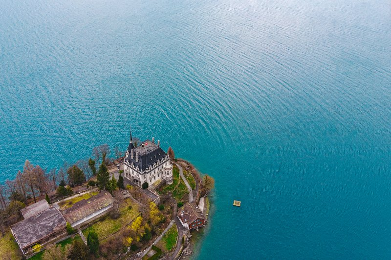 swiss, iseltwald, interlaken, switzerland, castle, lake, швейцария, интерлакен, озеро, замок [iseltwald flymode]photo preview