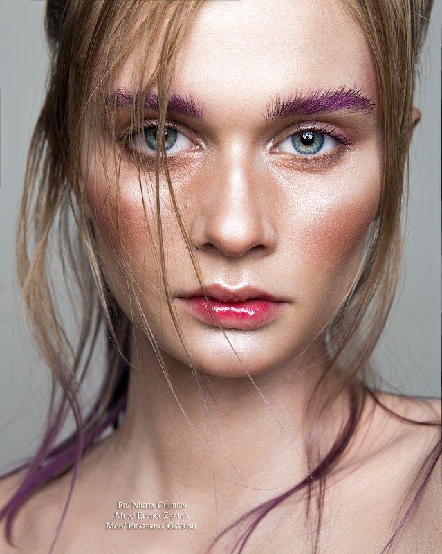 девушка, женский портрет, фэшн, бьюти, макияж Катринphoto preview