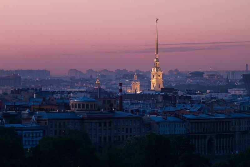 рассвет, россия, санкт-петербург, городской пейзаж На рассветеphoto preview