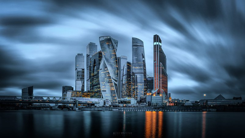 москва, сити, город, небоскребы, длинная выдержка, moscow, city, urban, long exposure, nd filter, evening, night, clouds Passing by...photo preview