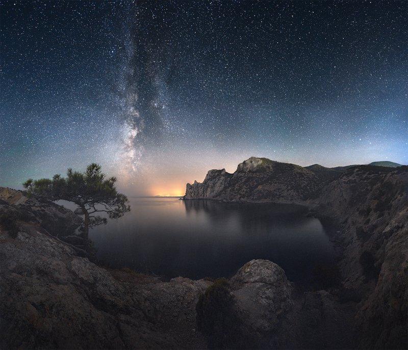 крым, новый свет, млечный путь, судак, ночной пейзаж Царская Бухтаphoto preview