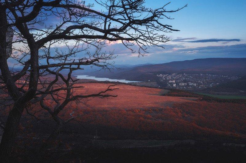 Альминская долина в мягком свете заката. Симферопольский р-н, Крым.photo preview
