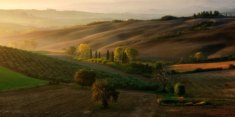 italy, landscape, tuscany, autumn Tuscan gardenphoto preview