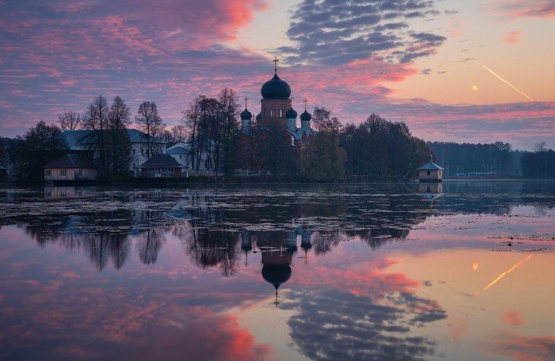 утро, рассвет, природа, монастырь По утруphoto preview