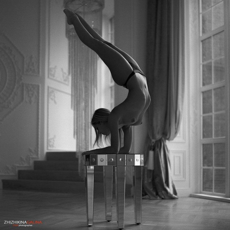 чб, ню, артню, гимнастка, пленка, фото, фотография, film, bw, nu, nude, girl, photo Баланс фото превью