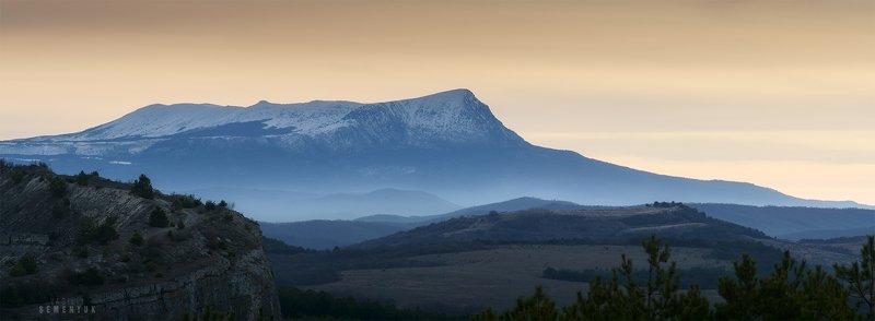 крым, горы, чатыр-даг, рассвет, вершина, весна. Великолепный Чатыр-Даг.photo preview