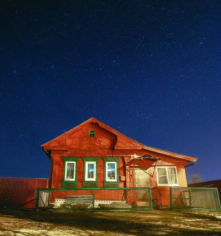 ночь, звезды, ивановская область Дом - милый домphoto preview