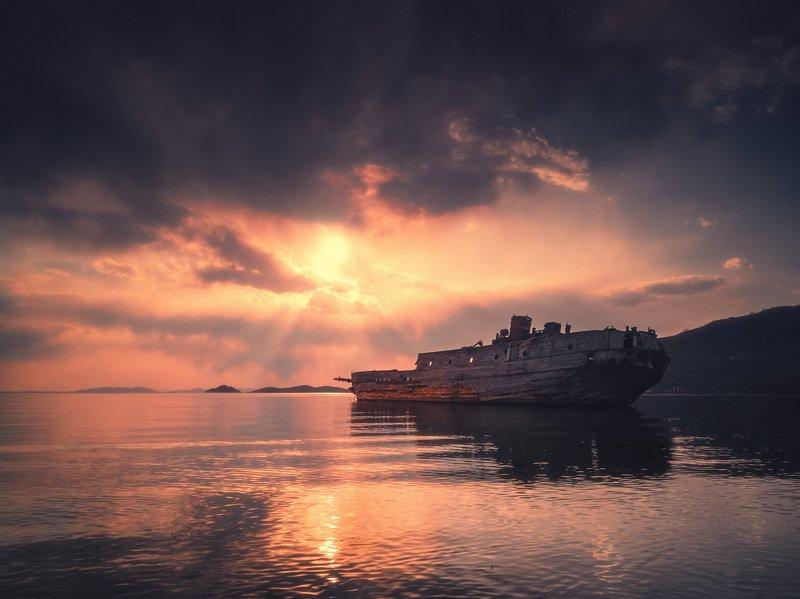 мобилография, вечер, море ***photo preview