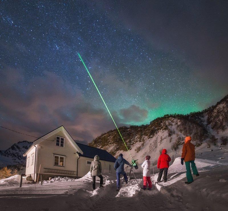норвегия, лофотены Сигнал в космос.photo preview