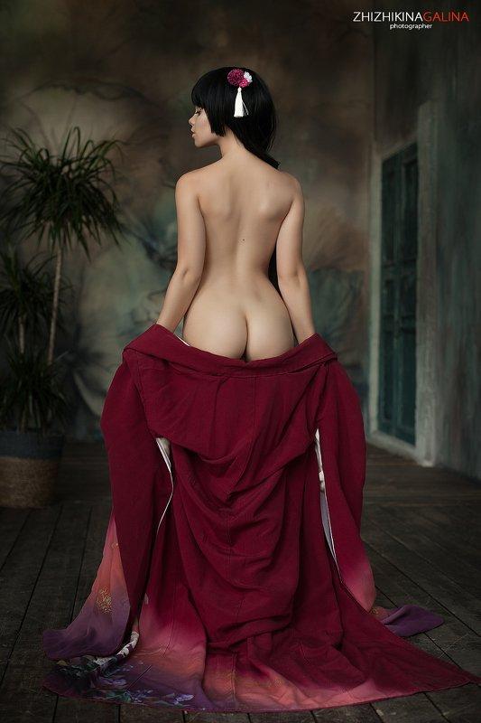 гейша, японка, портрет, ню, артню, девушка, попа, girl, face, nu, nude, beauty, Гейша фото превью
